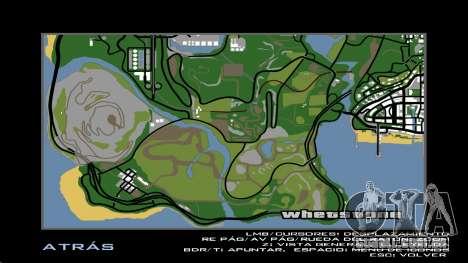 HD Radar Mapa para GTA San Andreas por diante tela