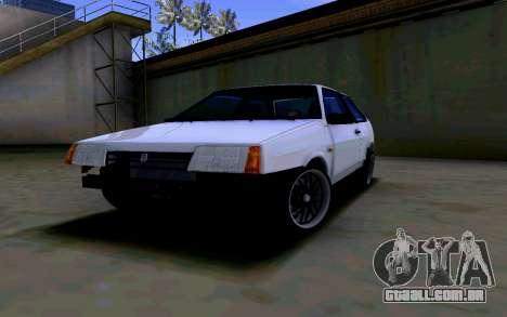 VAZ 2108 V2 para GTA San Andreas vista traseira