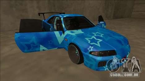Nissan Skyline R33 Drift Blue Star para o motor de GTA San Andreas