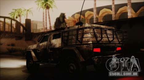 Joint Light Tactical Vehicle para GTA San Andreas traseira esquerda vista