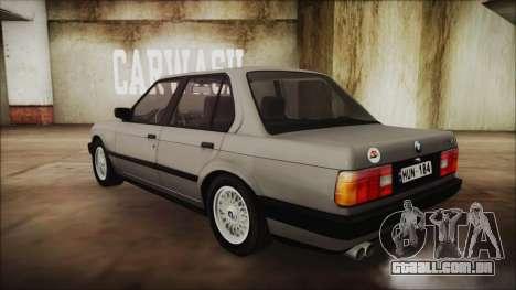 BMW 325i E30 para GTA San Andreas esquerda vista