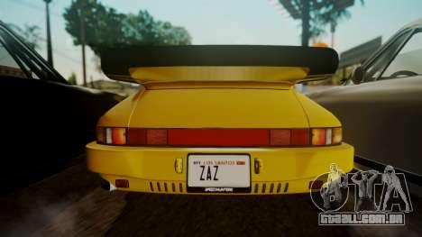 RUF CTR Yellowbird (911) 1987 HQLM para GTA San Andreas vista traseira
