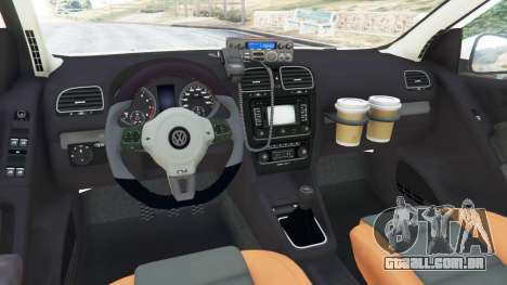 GTA 5 Volkswagen Golf Mk6 Dutch Police traseira direita vista lateral