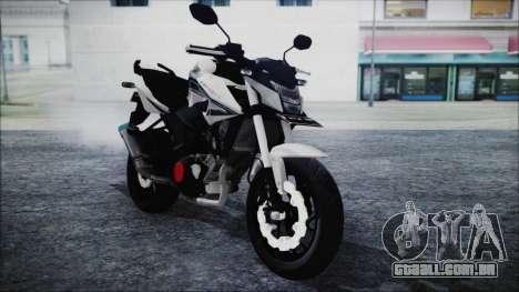 Honda CB150R White para GTA San Andreas vista direita