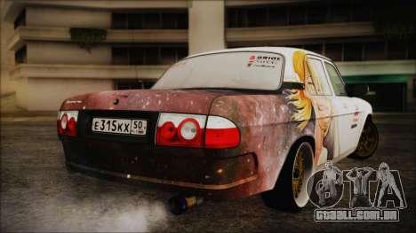 ГАЗ 31105 Deriva (Eterna Summer Edition) para GTA San Andreas traseira esquerda vista