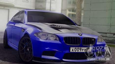 BMW M5 F10 Top Service MSK para GTA San Andreas