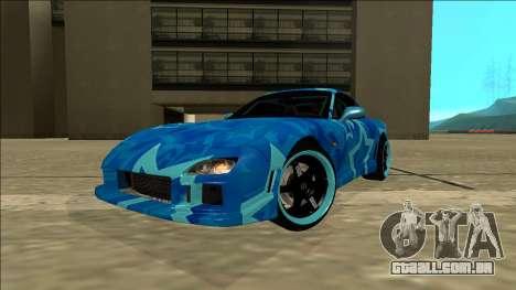 Mazda RX-7 Drift Blue Star para GTA San Andreas traseira esquerda vista