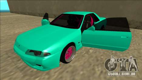 Nissan Skyline R32 para GTA San Andreas vista inferior