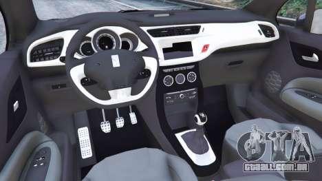GTA 5 Citroen DS3 2011 traseira direita vista lateral