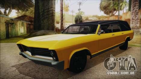 GTA 5 Albany Lurcher IVF para GTA San Andreas traseira esquerda vista