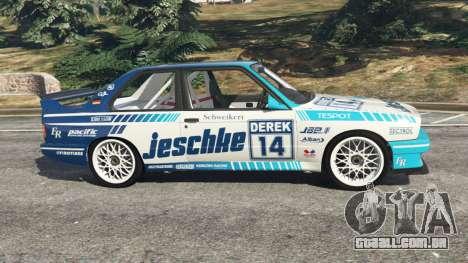 GTA 5 BMW M3 (E30) 1991 [Jeschke] v1.2 vista lateral esquerda