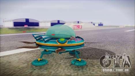 X808 UFO para GTA San Andreas esquerda vista