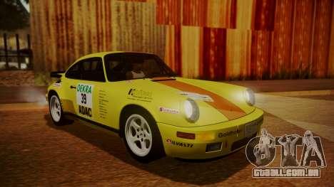 RUF CTR Yellowbird (911) 1987 HQLM para GTA San Andreas vista inferior