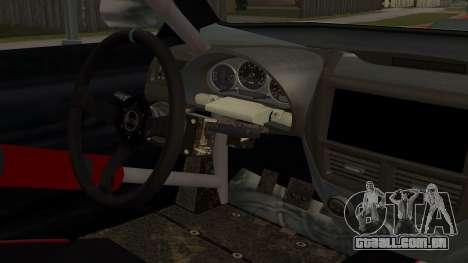 All New Sultan para GTA San Andreas vista interior