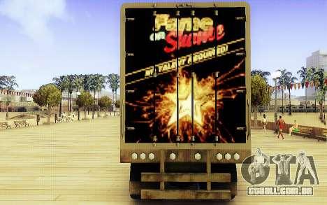 GTA V Fama ou Vergonha Trailer para GTA San Andreas traseira esquerda vista