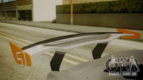 McLaren P1 GTR 2015 para GTA San Andreas vista traseira