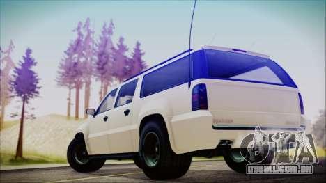 GTA 5 Declasse Granger FIB SUV para GTA San Andreas esquerda vista