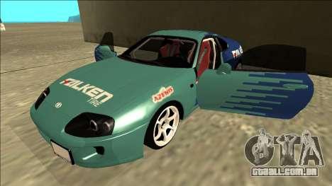 Toyota Supra Falken Drift para vista lateral GTA San Andreas