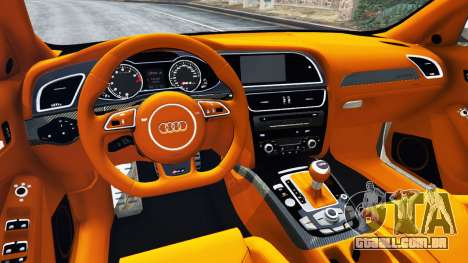 GTA 5 Audi RS4 Avant 2013 traseira direita vista lateral