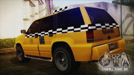 Albany Cavalcade Taxi (Saints Row 4 Style) para GTA San Andreas esquerda vista