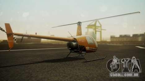 Robinson R-22 de Seguridad Vial para GTA San Andreas esquerda vista