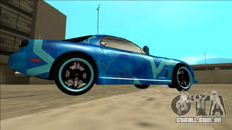 Mazda RX-7 Drift Blue Star para GTA San Andreas vista direita