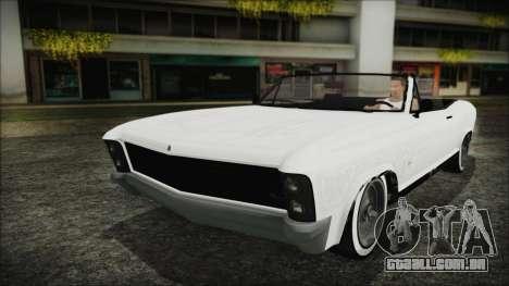 GTA 5 Albany Buccaneer Hydra Version IVF para GTA San Andreas vista interior