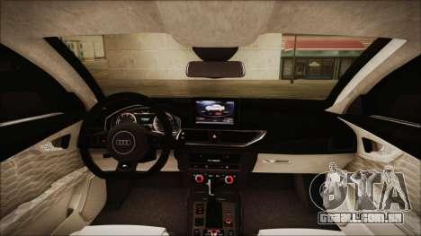 Audi RS7 Sportback 2015 para GTA San Andreas vista superior