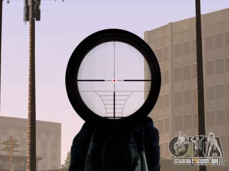 Sniper Scope v2 para GTA San Andreas quinto tela