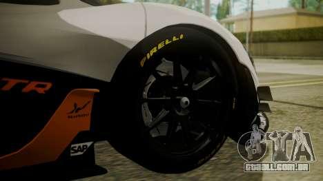 McLaren P1 GTR 2015 para GTA San Andreas traseira esquerda vista