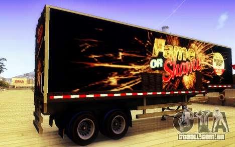 GTA V Fama ou Vergonha Trailer para GTA San Andreas esquerda vista