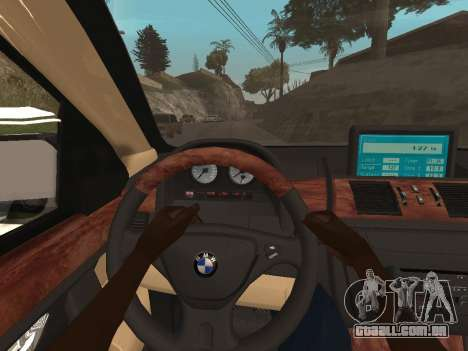 BMW X5 para GTA San Andreas vista interior