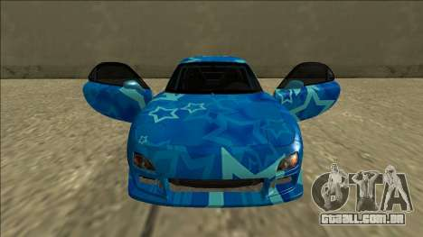 Mazda RX-7 Drift Blue Star para GTA San Andreas vista superior