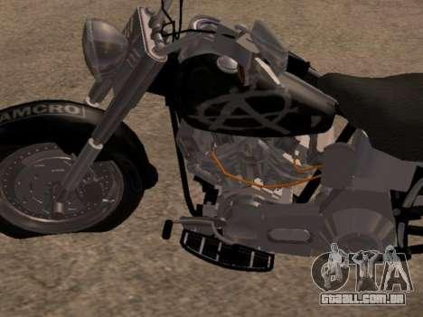 Harley Davidson Fat Boy Sons Of Anarchy para GTA San Andreas esquerda vista