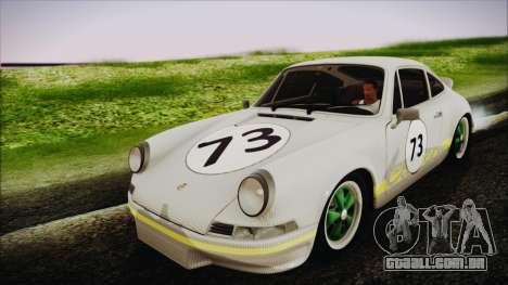 Porsche 911 Carrera RS 2.7 (901) 1973 para GTA San Andreas vista interior