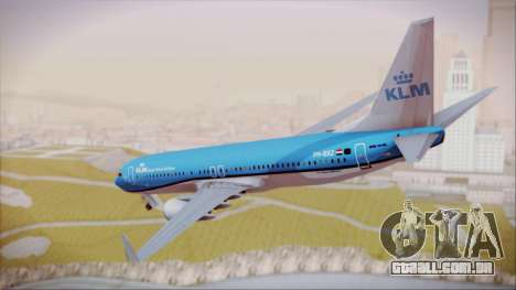 Boeing 737-800 KLM Royal Dutch Airlines para GTA San Andreas esquerda vista