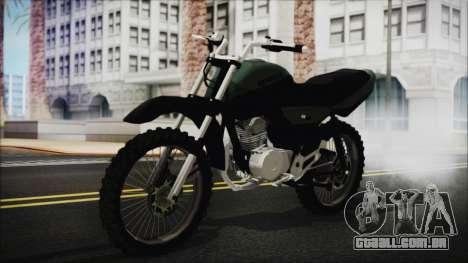 Zanella RX150 Cross para GTA San Andreas vista traseira