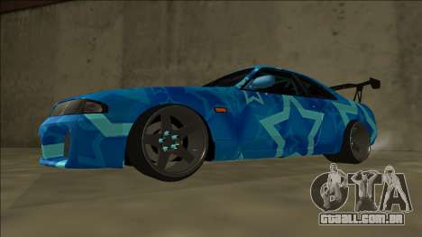 Nissan Skyline R33 Drift Blue Star para GTA San Andreas traseira esquerda vista