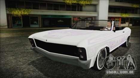 GTA 5 Albany Buccaneer Hydra Version para GTA San Andreas vista interior