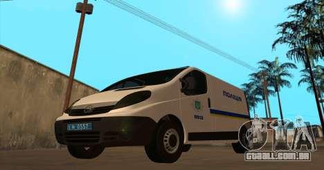 Opel Vivaro Polícia Da Ucrânia para GTA San Andreas esquerda vista