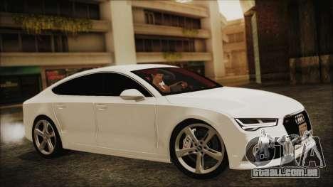 Audi RS7 Sportback 2015 para GTA San Andreas vista direita