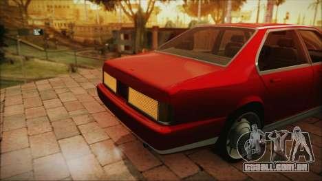 Sentinel PFR HD v1.0 para GTA San Andreas vista traseira