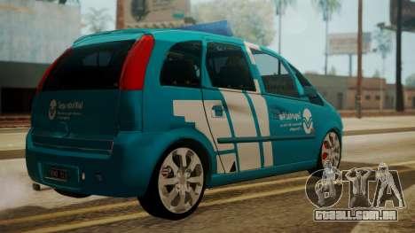 Chevrolet Meriva de Seguridad Vial para GTA San Andreas traseira esquerda vista