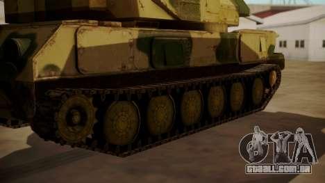 ZSU-23-4 Shilka para GTA San Andreas traseira esquerda vista