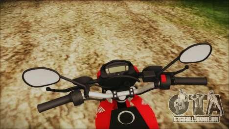Honda Bros 160 2015 para GTA San Andreas vista direita
