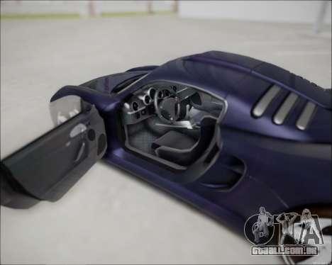 Ruf CTR 3 2015 para GTA San Andreas vista direita