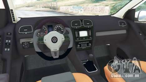 GTA 5 Volkswagen Golf Mk6 v2.0 [ABT] traseira direita vista lateral