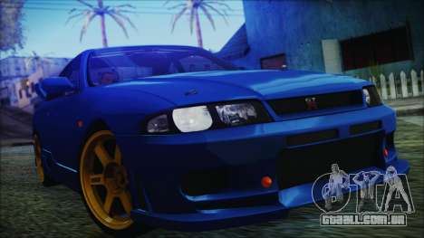 Nissan Skyline R33 Kantai Collection Kongou PJ para GTA San Andreas vista direita