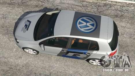 GTA 5 Volkswagen Golf Mk6 v2.0 [WRC Polo] voltar vista