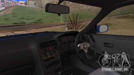 Nissan Skyline R33 Kantai Collection Kongou PJ para GTA San Andreas vista traseira